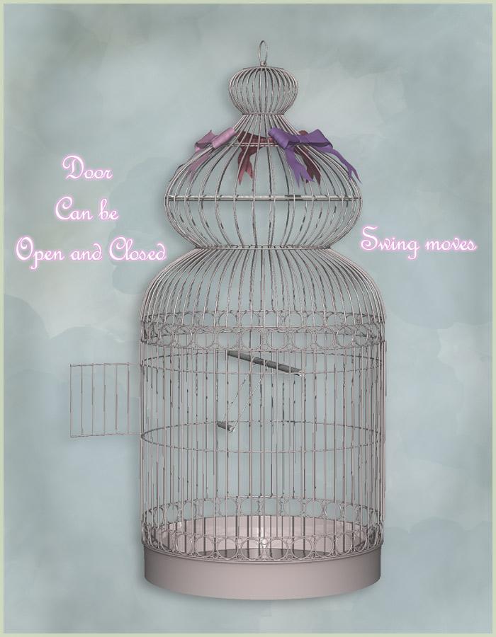 Shabby Chic Bird cage by: Anima GeminiRuntimeDNA, 3D Models by Daz 3D