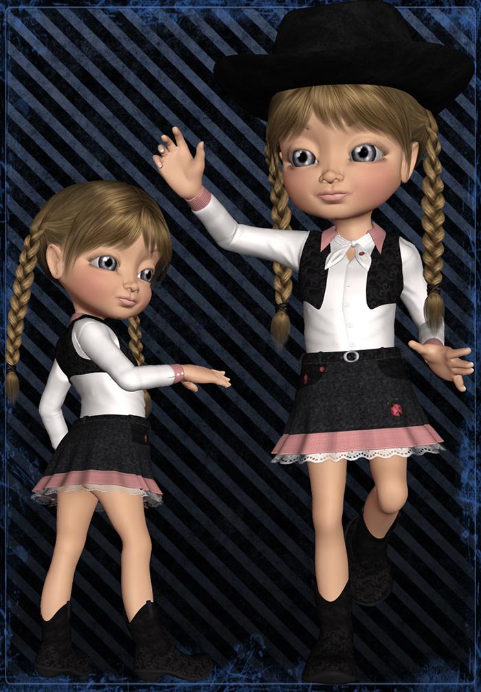 Kiki Cowgirl by: LadyFayMia 3D DesignRuntimeDNA, 3D Models by Daz 3D