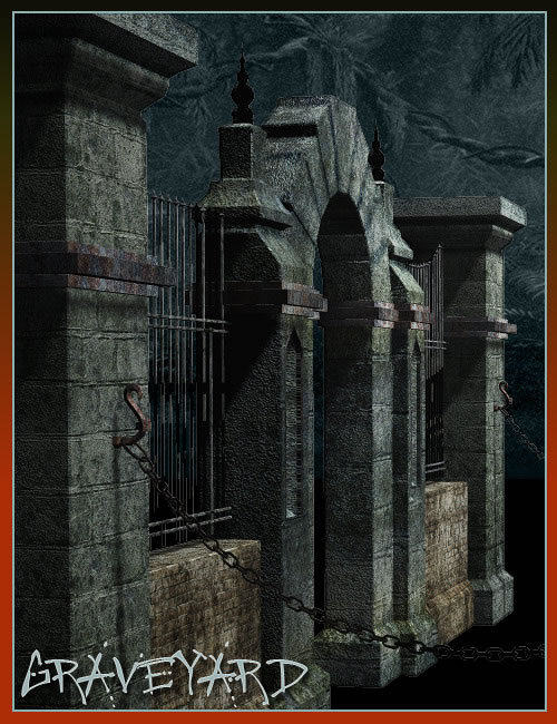 The Graveyard by: , 3D Models by Daz 3D