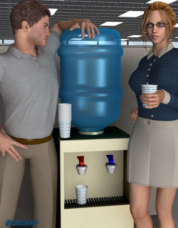 GeneriCorp: Water Cooler by: EvilinnocenceRuntimeDNA, 3D Models by Daz 3D