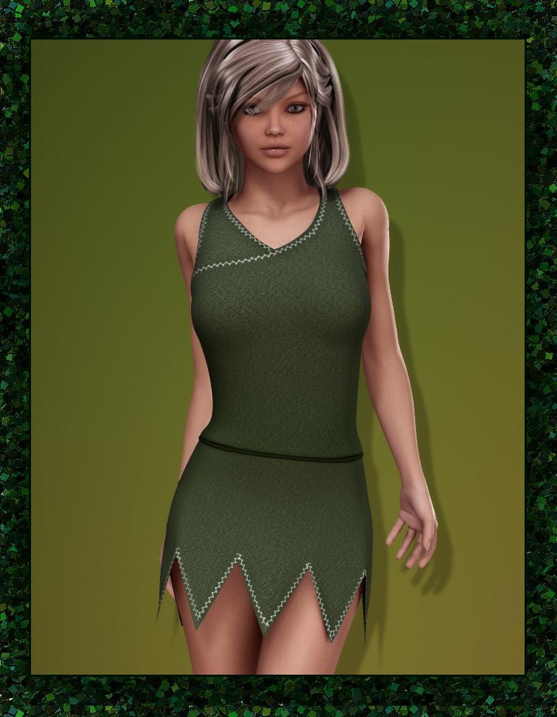 Elf Dress for V4 by: EvilinnocenceRuntimeDNA, 3D Models by Daz 3D