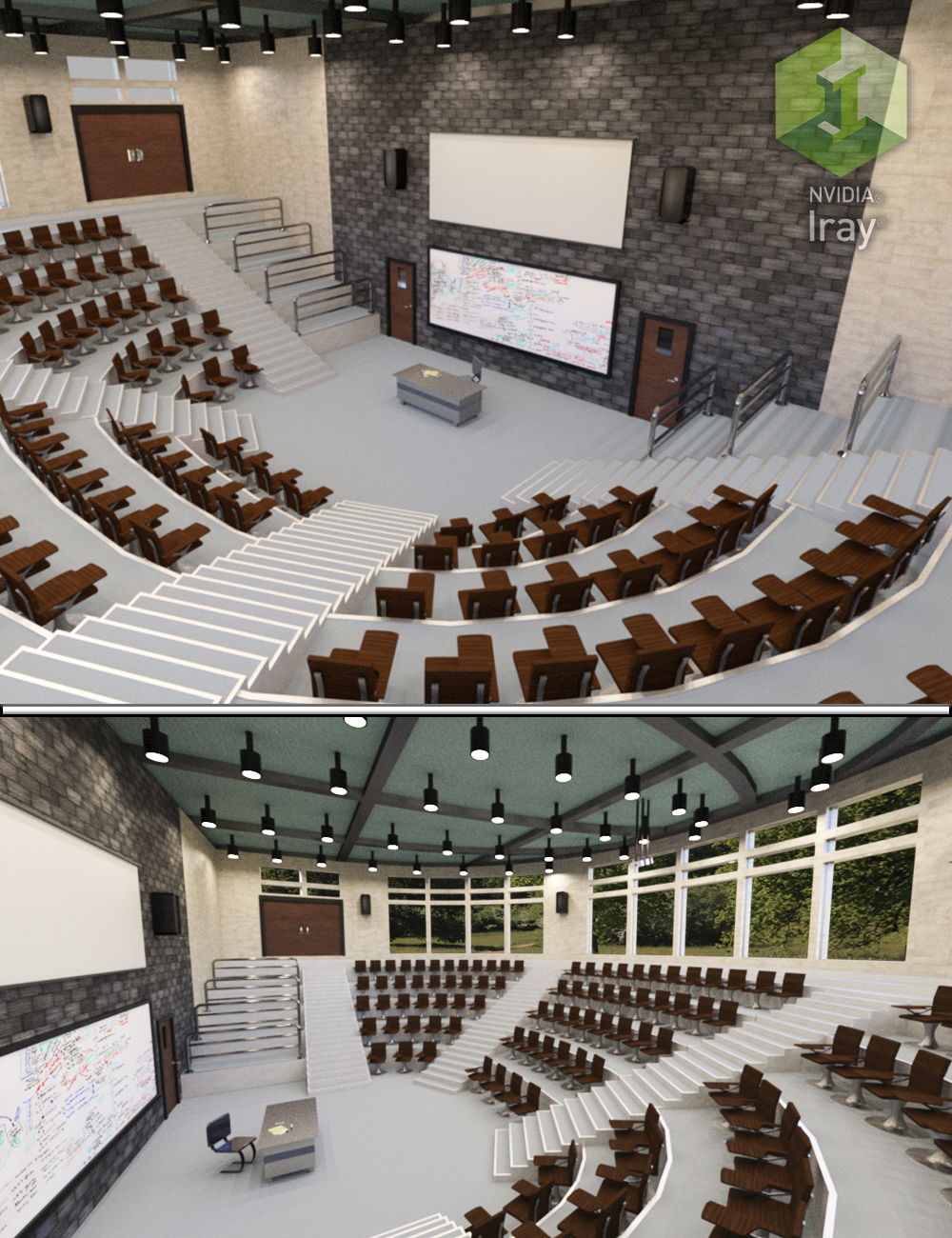 Lecture Hall with Props by: Tesla3dCorp, 3D Models by Daz 3D