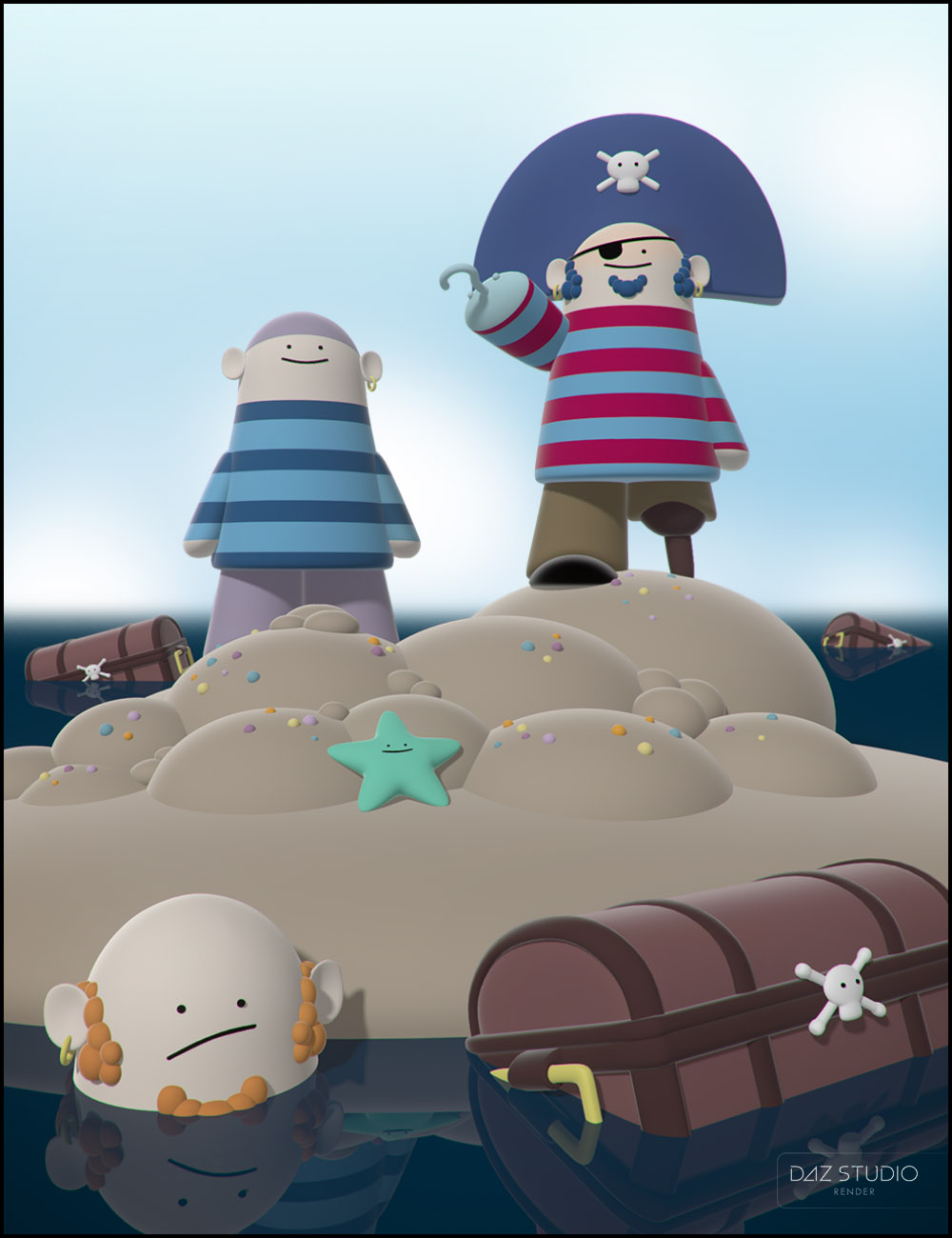 Knocker! Pirates by: Jack Tomalin, 3D Models by Daz 3D