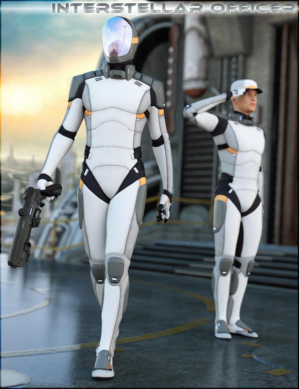 HFS Interstellar Officer for Genesis 3 Male(s) by: DarioFish, 3D Models by Daz 3D
