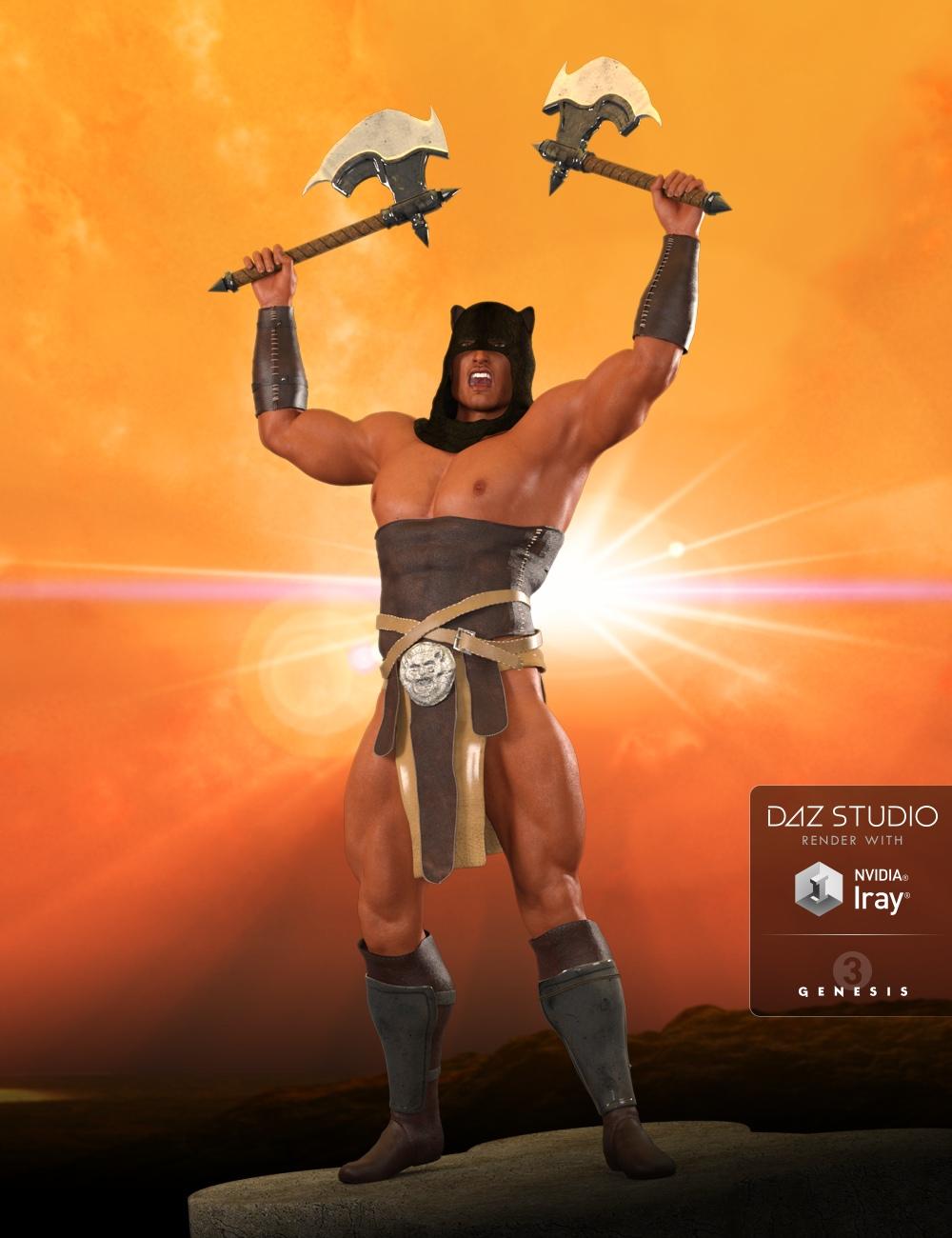AQ Barbarian for Genesis 3 Male(s) by: Aquarius, 3D Models by Daz 3D
