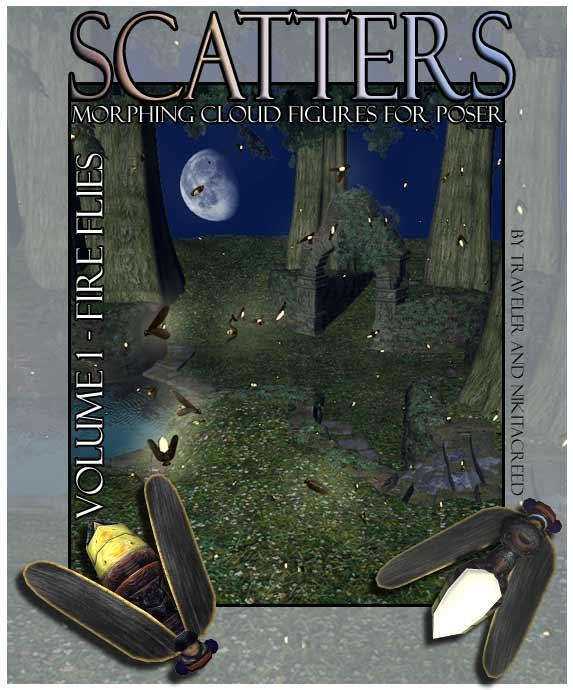 RDNA Scatters Vol 1 - FireFlies by: RuntimeDNATraveler, 3D Models by Daz 3D