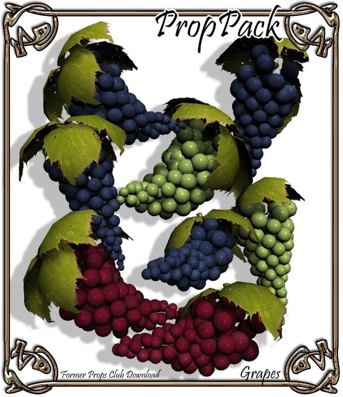 Props Pack - Grapes by: RuntimeDNATraveler, 3D Models by Daz 3D