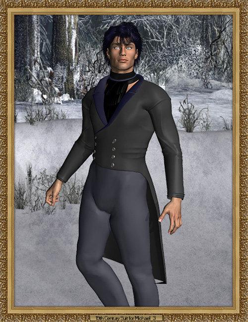19th Century Suit Pack for Michael 3.0 by: Lourdes, 3D Models by Daz 3D