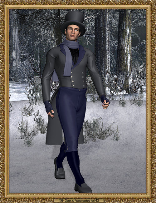 19th Century Accessory Pack for Michael 3.0 by: Lourdes, 3D Models by Daz 3D