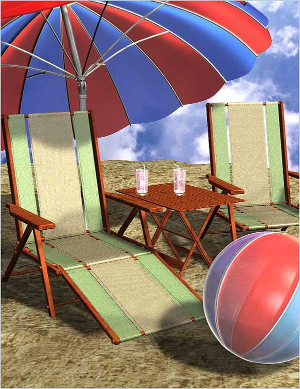 Props Pack - Fun in the Sun Props by: RuntimeDNATraveler, 3D Models by Daz 3D
