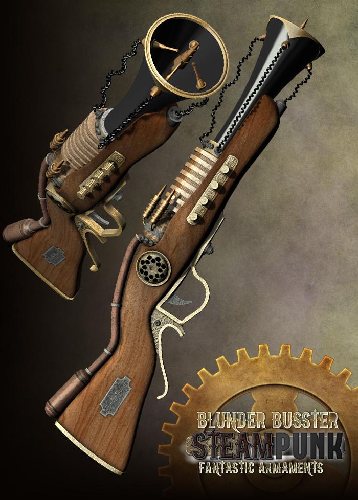 Steampunk: Fantastic Armaments by: RuntimeDNATraveler, 3D Models by Daz 3D