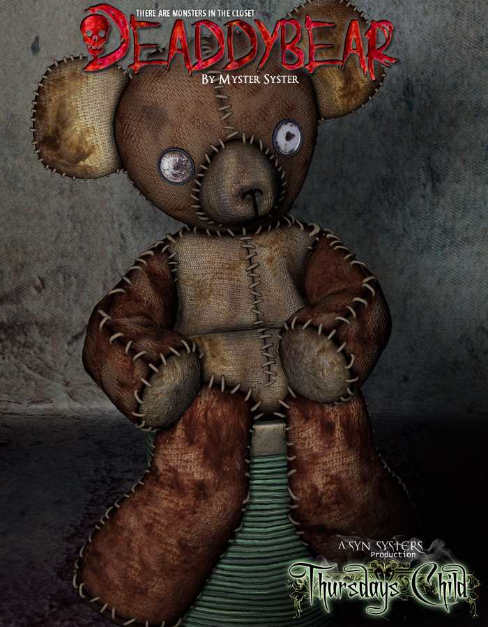 Thursdays Child - Deaddy Bear by: TravelerRuntimeDNA, 3D Models by Daz 3D