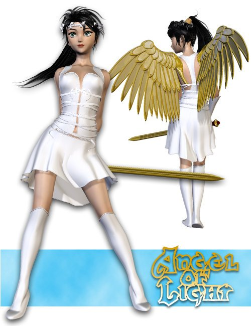 Angel of Light for Aiko 3.0 by: Canary3d, 3D Models by Daz 3D
