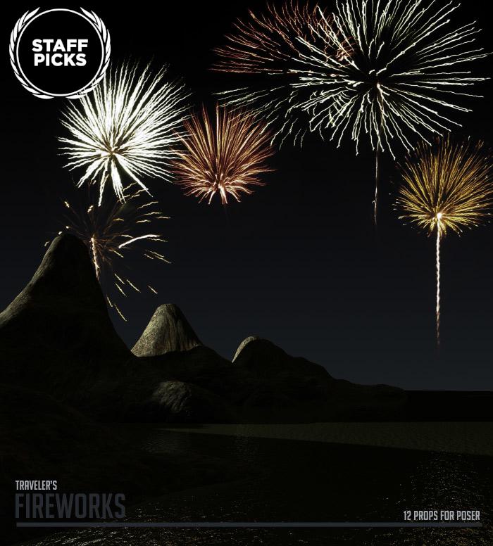 Fireworks by: RuntimeDNATraveler, 3D Models by Daz 3D