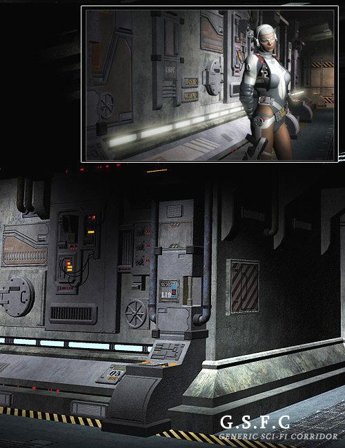 Generic Sci Fi Corridor by: Stonemason, 3D Models by Daz 3D