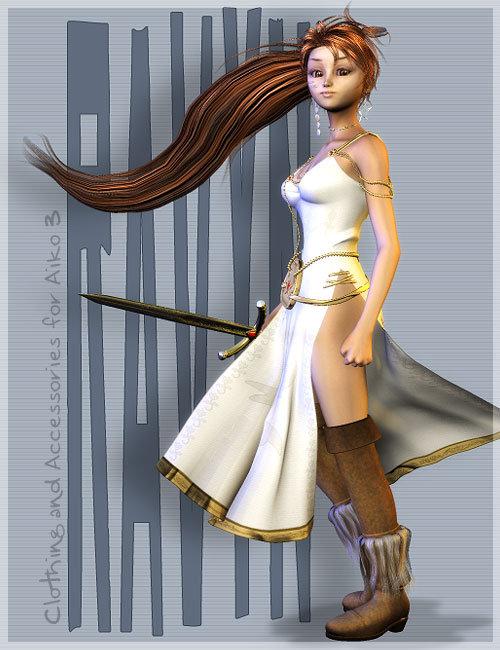 Ravyn for Aiko 3 by: 3D Universe, 3D Models by Daz 3D