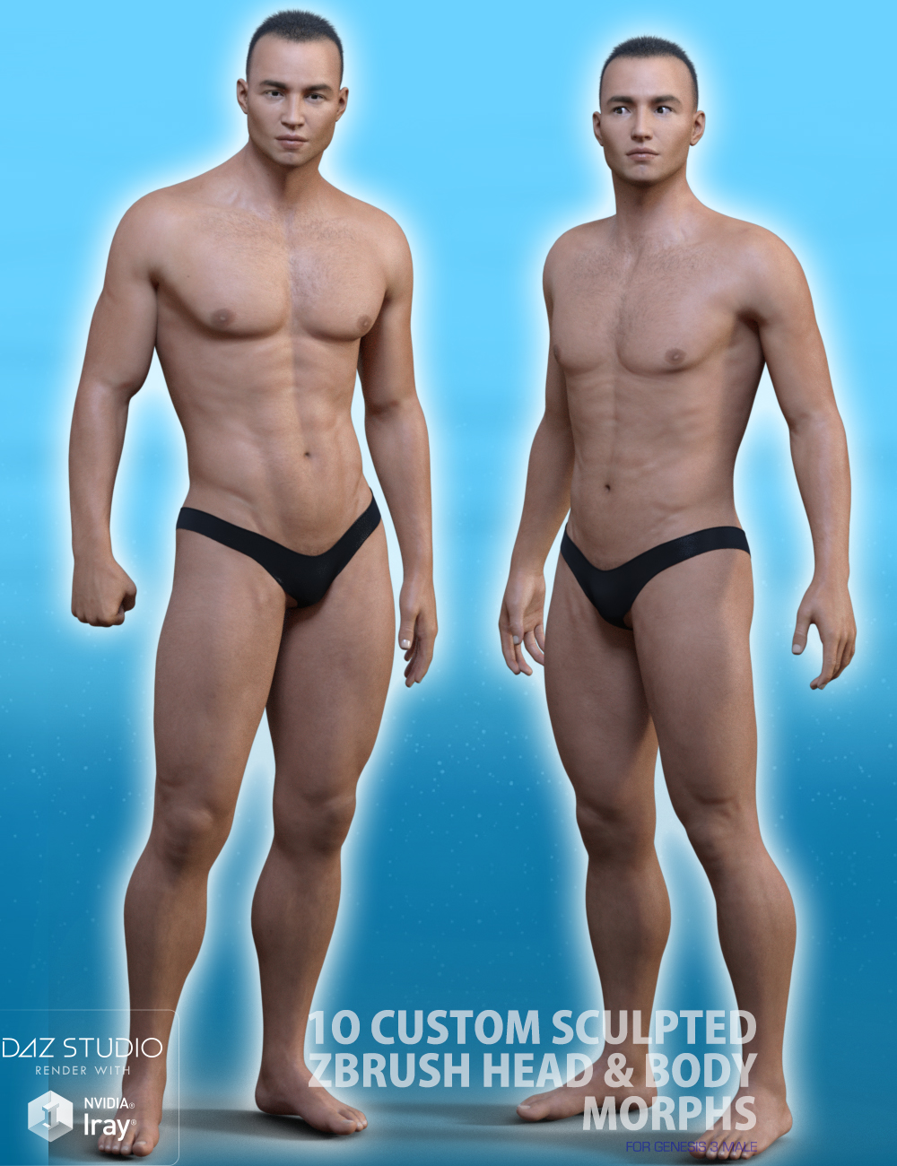 Versatile Morphs For Genesis 3 Male by: 3anson, 3D Models by Daz 3D