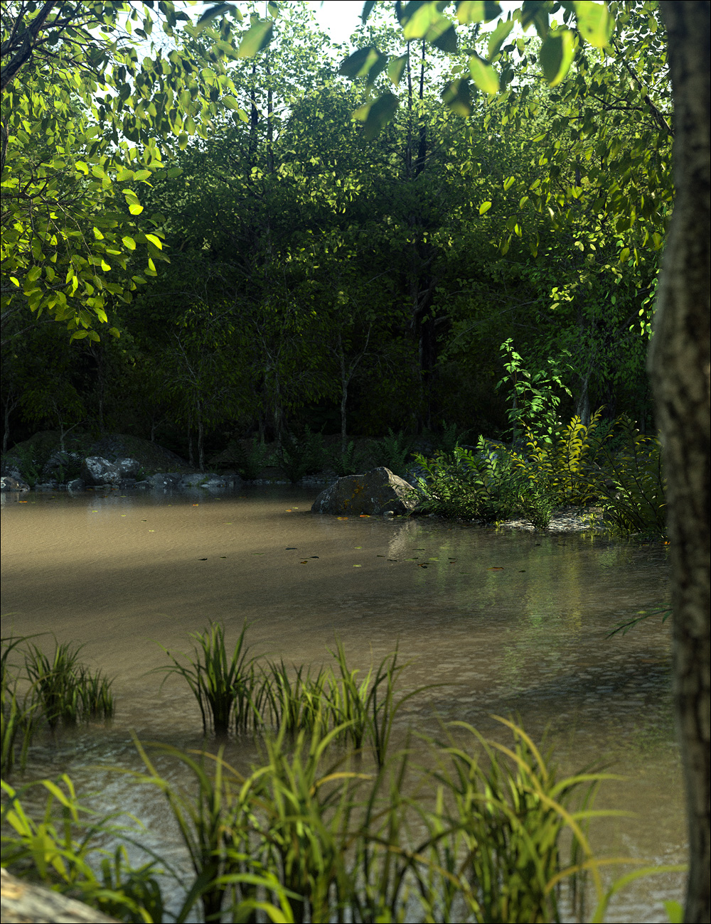 Fern Lake by: Stonemason, 3D Models by Daz 3D