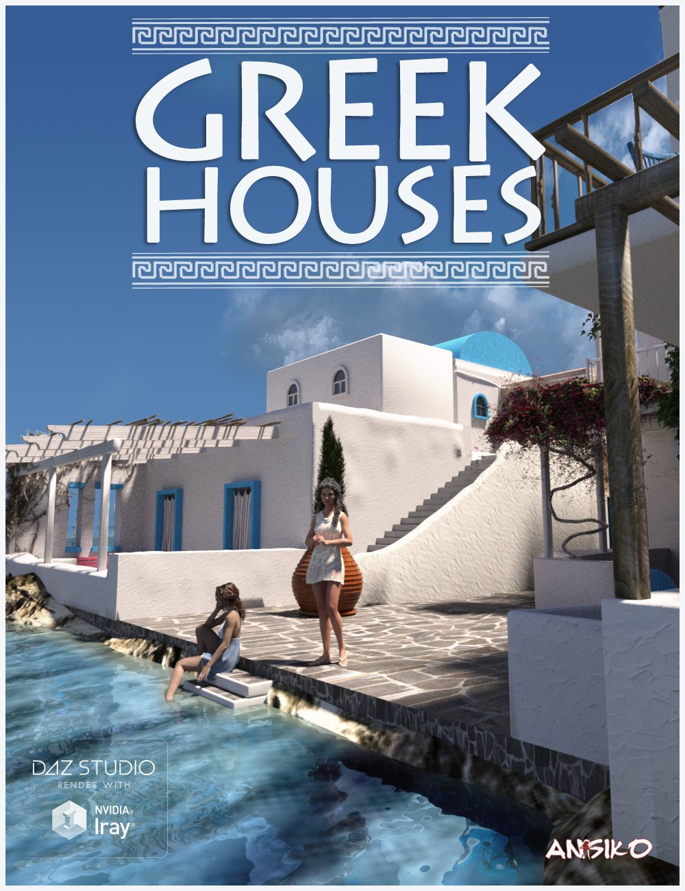 Greek Houses by: Ansiko, 3D Models by Daz 3D
