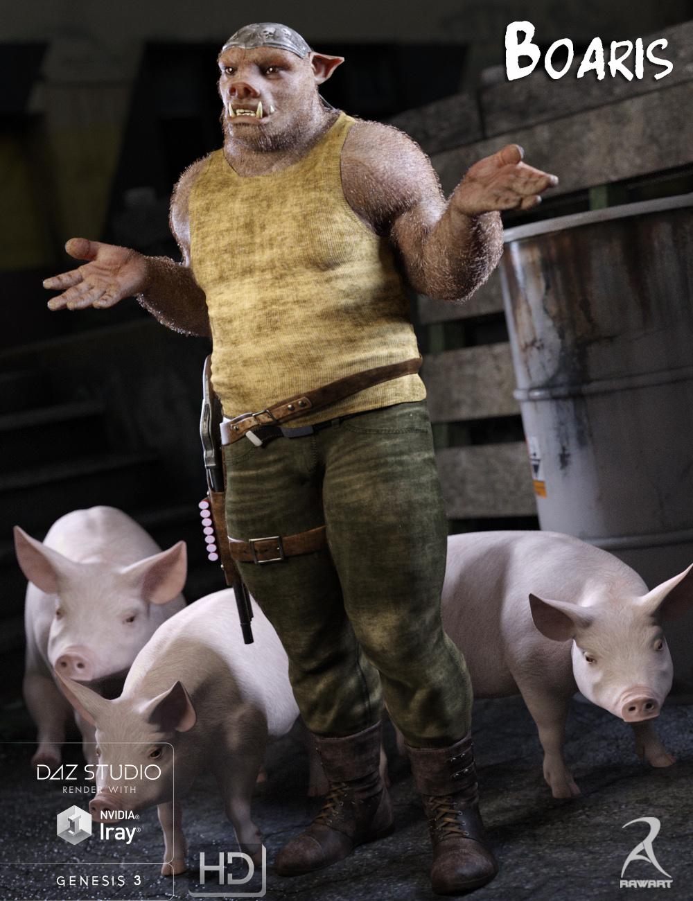 Boaris for Genesis 3 Male(s) by: RawArt, 3D Models by Daz 3D