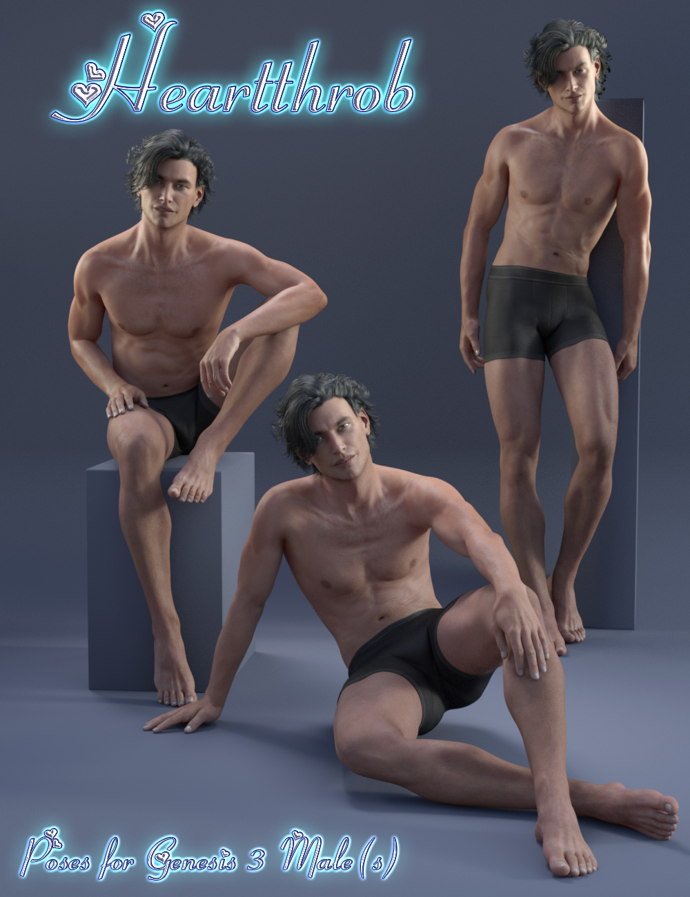 Heartthrob for Genesis 3 Male(s) by: lunchlady, 3D Models by Daz 3D
