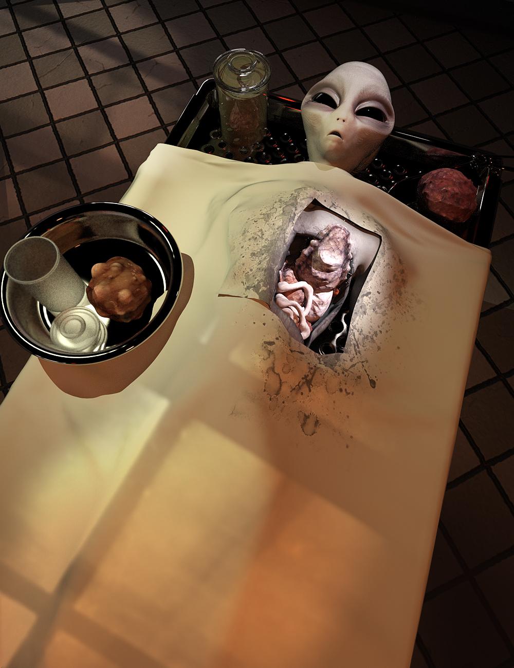 Alien Autopsy by: The AntFarm, 3D Models by Daz 3D