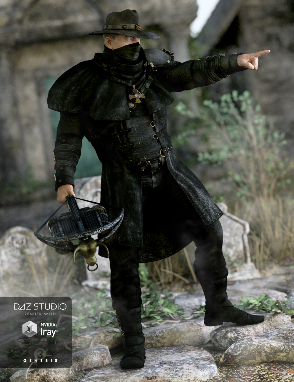 Dragoh Outfit for Genesis 3 Male(s) by: SarsaVal3dart, 3D Models by Daz 3D