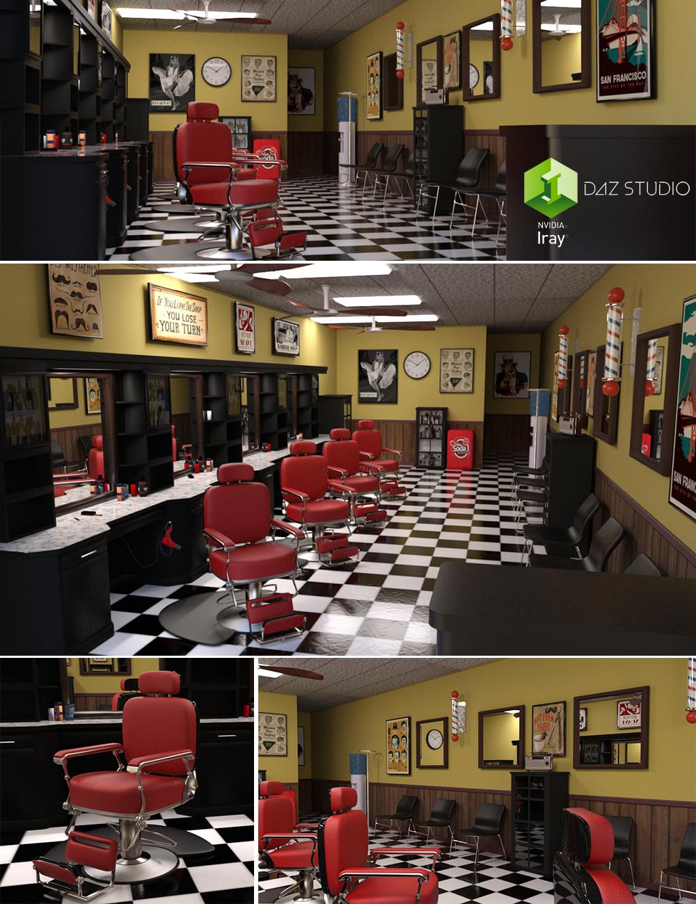 Barbershop by: PerspectX, 3D Models by Daz 3D