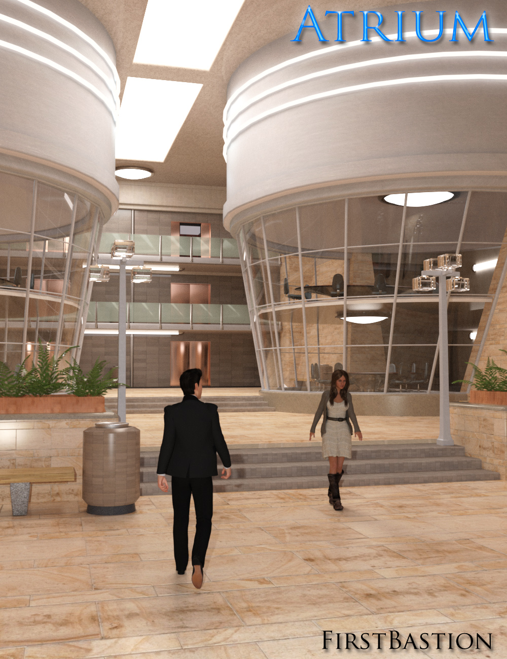 1stBastion's Atrium by: FirstBastion, 3D Models by Daz 3D