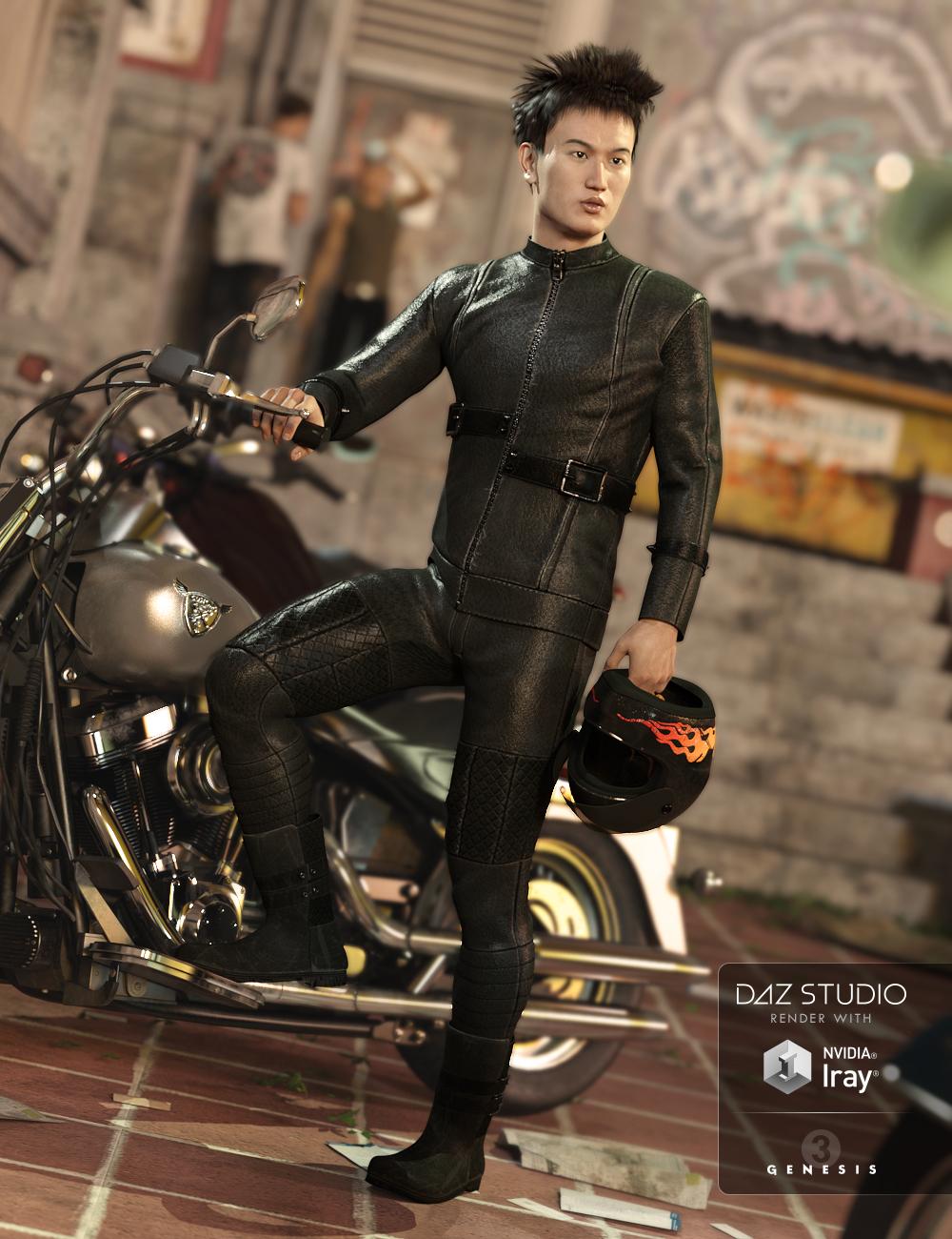 Biker Bandit for Genesis 3 Male(s) by: NikisatezAnna Benjamin, 3D Models by Daz 3D