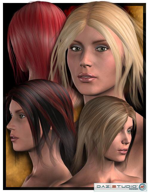 Erin Hair by: Lisbeth N, 3D Models by Daz 3D