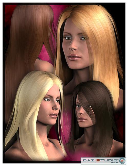 Maria Hair by: Lisbeth N, 3D Models by Daz 3D
