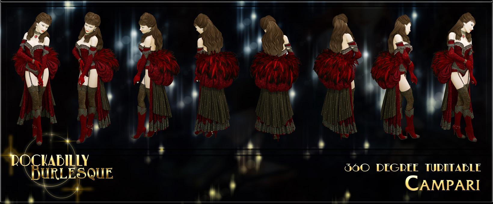Rockabilly Burlesque for V4 by: NetherworksAnna BenjaminLady LittlefoxRuntimeDNASyyd, 3D Models by Daz 3D
