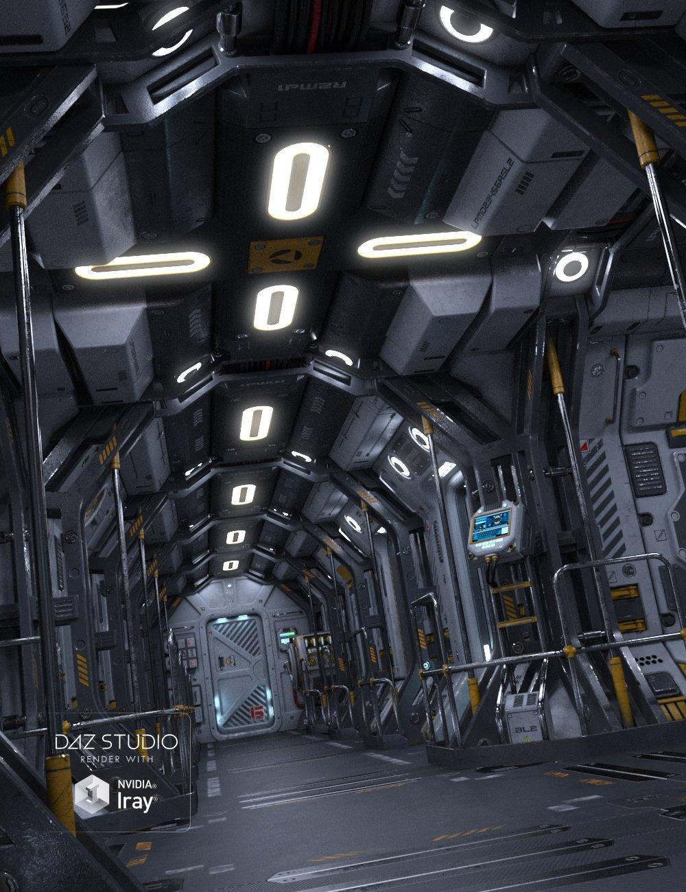 Sci-fi Corridor A by: petipet, 3D Models by Daz 3D