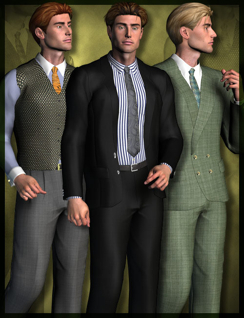 3 Piece Suit for M3 by: the3dwizard, 3D Models by Daz 3D