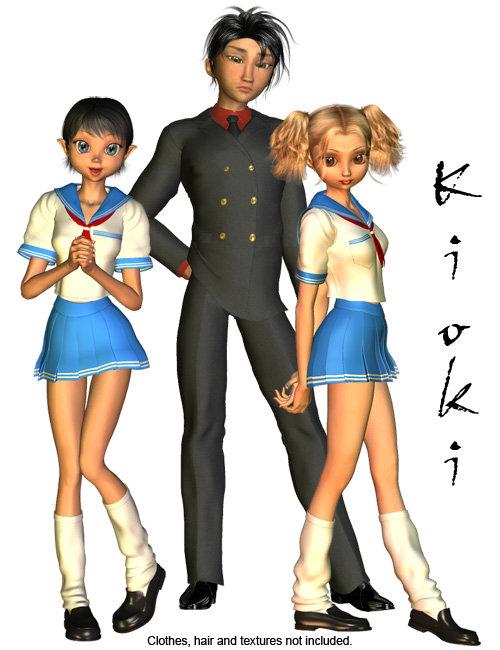 Kioki by: Capsces Digital Ink, 3D Models by Daz 3D