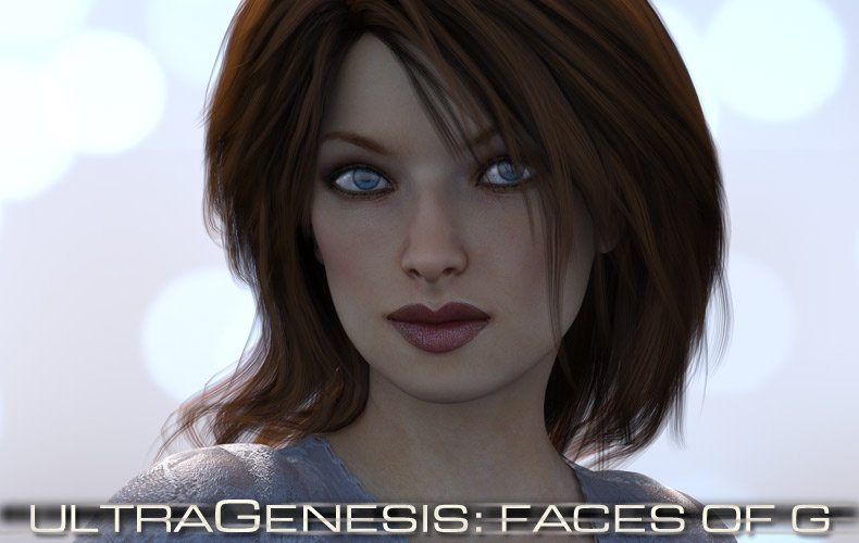 ULTRAGENESIS: Faces of G by: RuntimeDNASyydTraveler, 3D Models by Daz 3D