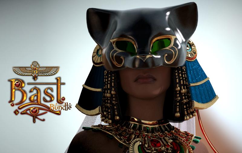 Bundle Bast for Genesis 3 Female by: Lady Littlefox, 3D Models by Daz 3D