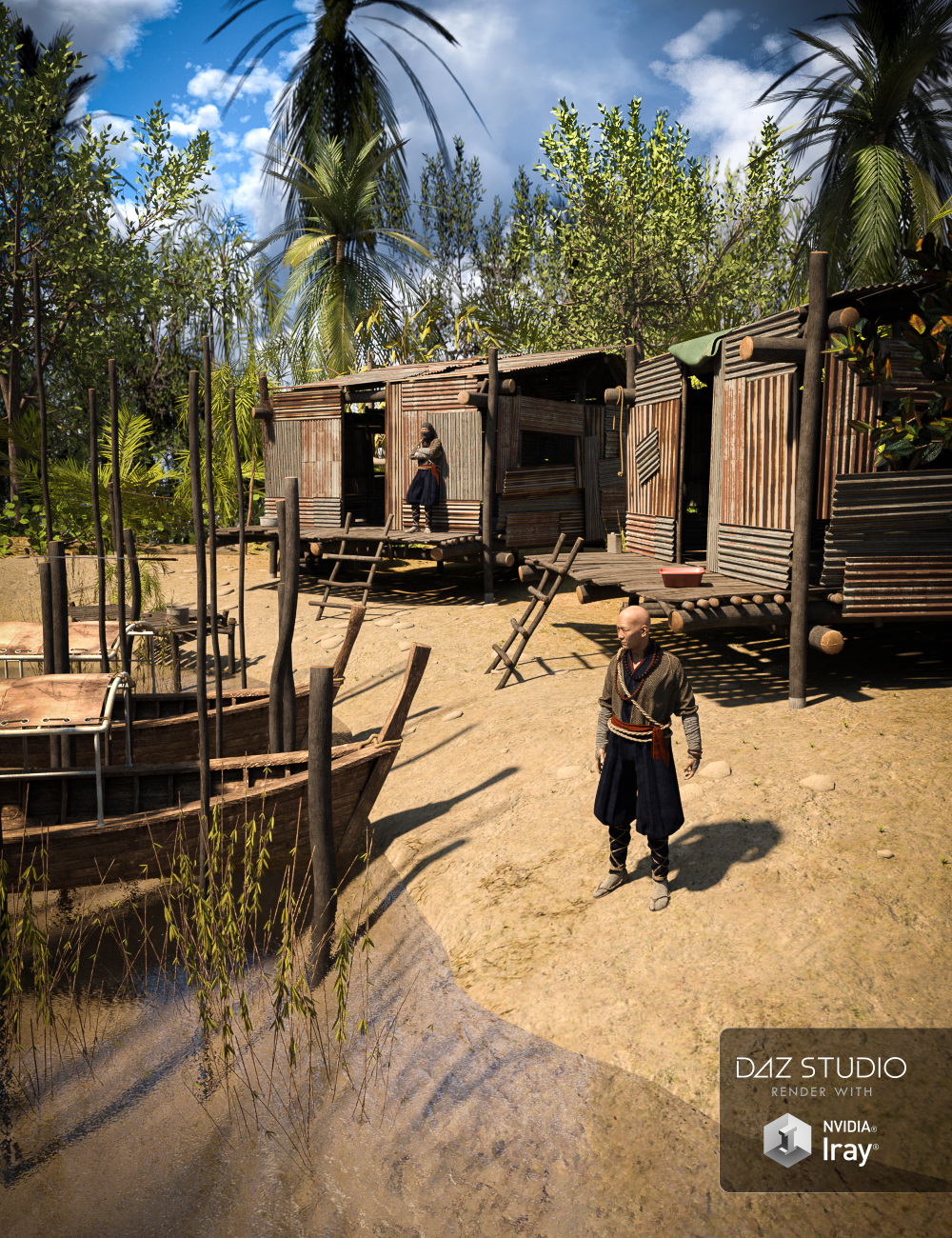 Asian River by: Mely3D, 3D Models by Daz 3D