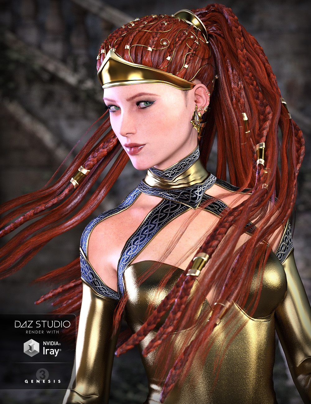 CallaCascade Hair for Genesis 2 and 3 Female(s) by: ArkiShox-Design, 3D Models by Daz 3D