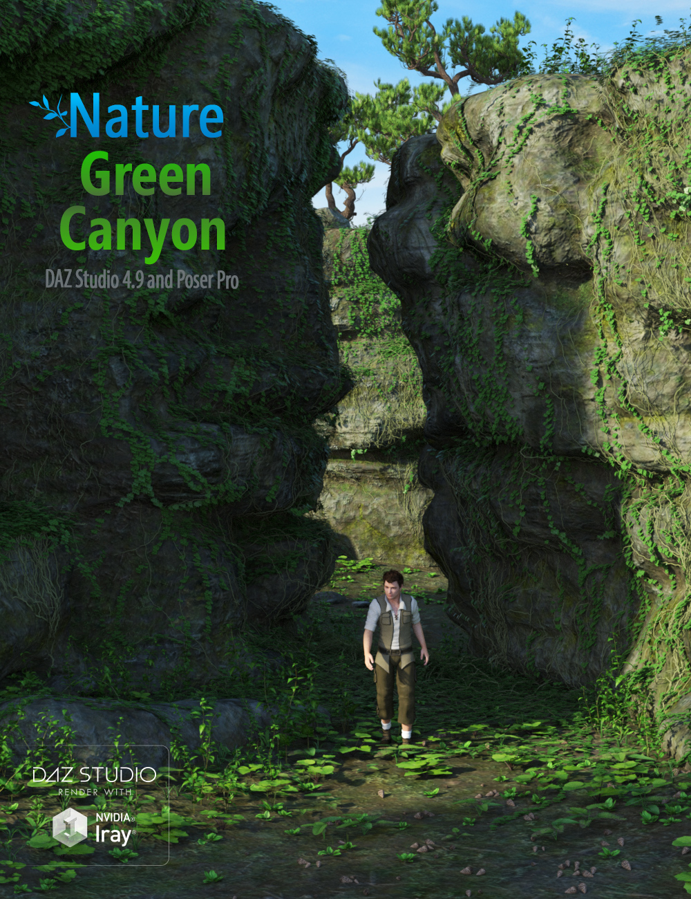 Nature - Green Canyon by: Andrey Pestryakov, 3D Models by Daz 3D