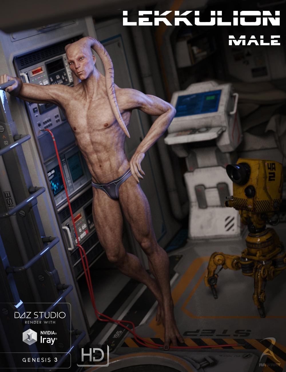 Lekkulion for Genesis 3 Male by: RawArt, 3D Models by Daz 3D