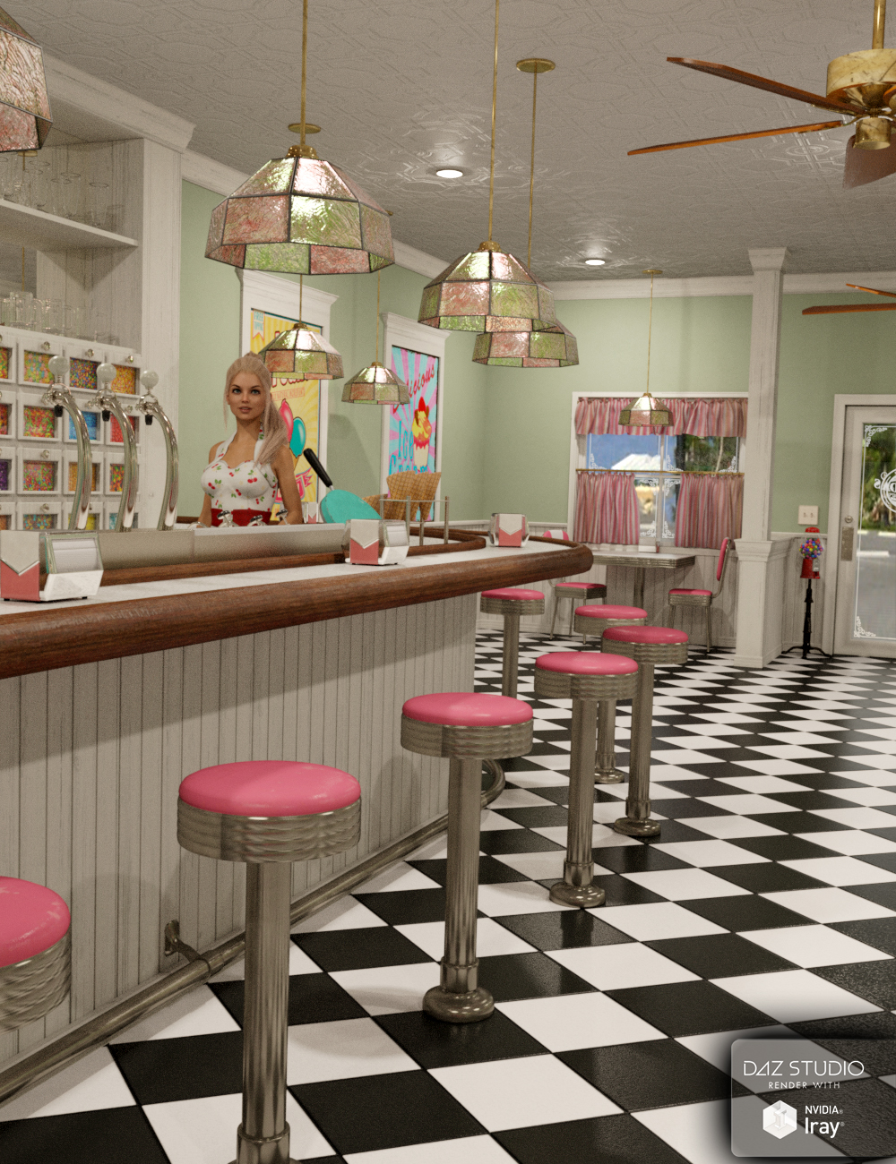 Miranda's Ice Cream Parlor by: SloshWerks, 3D Models by Daz 3D