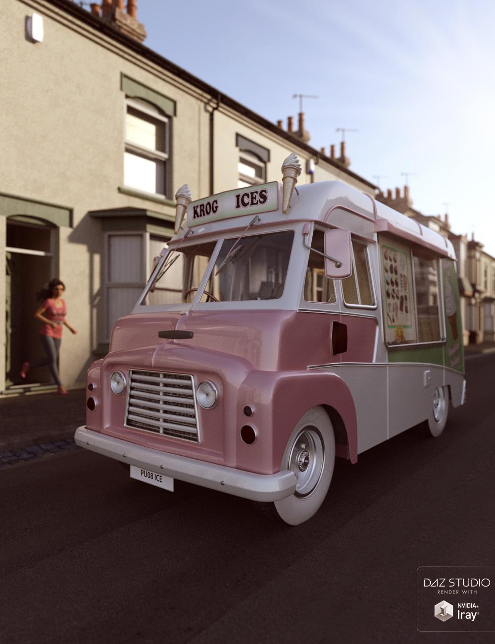 Vintage Ice Cream Van by: ForbiddenWhispersDavid Brinnen, 3D Models by Daz 3D