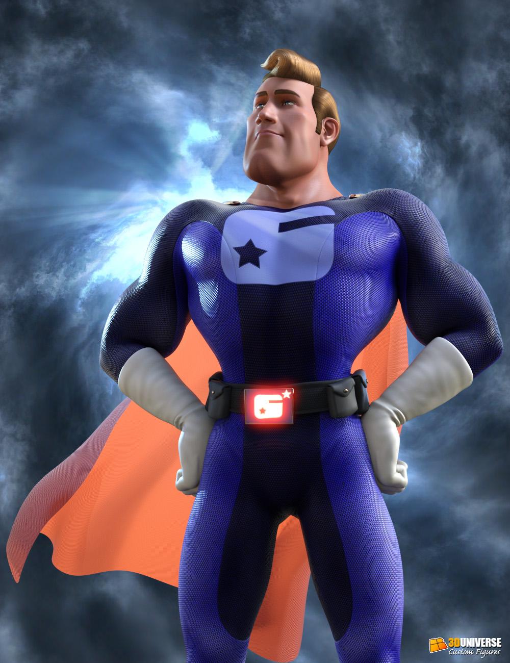 Captain Charisma for Genesis 3 Male by: 3D Universe, 3D Models by Daz 3D