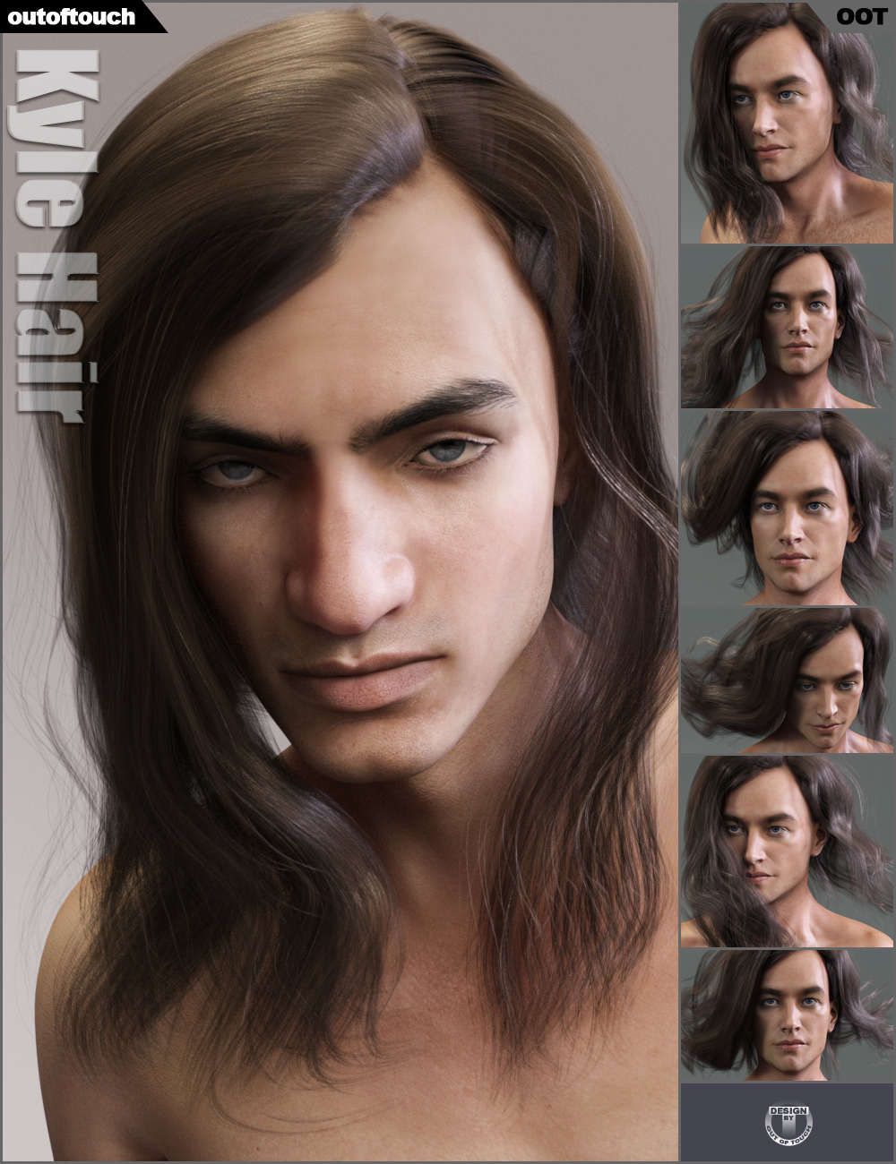 Kyle Hair by: outoftouch, 3D Models by Daz 3D