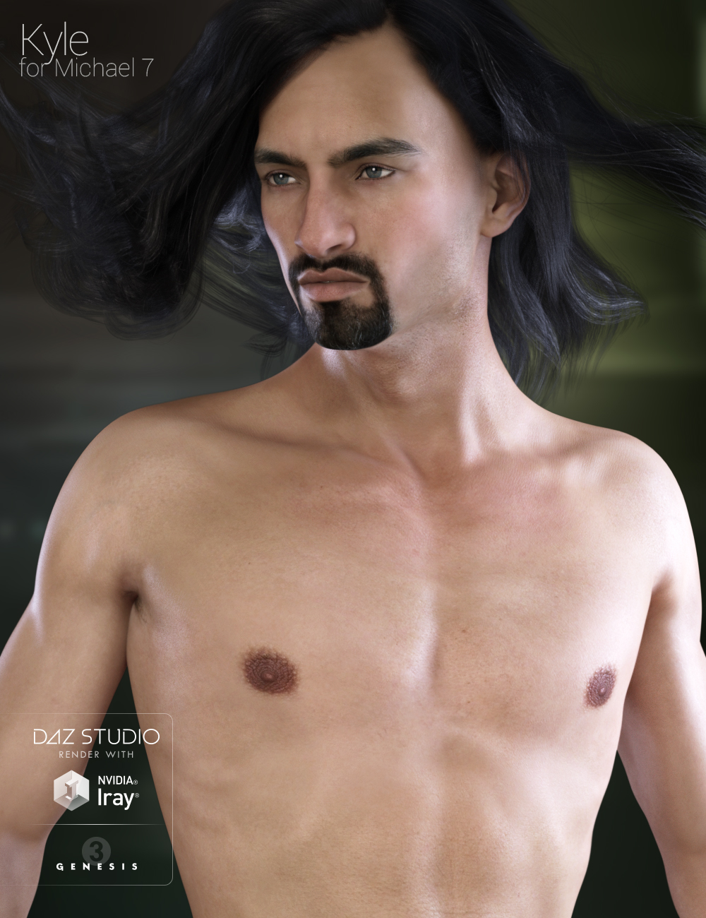 Kyle HD for Michael 7 by: Raiya, 3D Models by Daz 3D