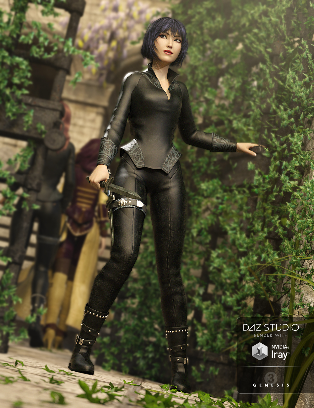 Umbris Outfit for Genesis 3 Female(s) by: , 3D Models by Daz 3D