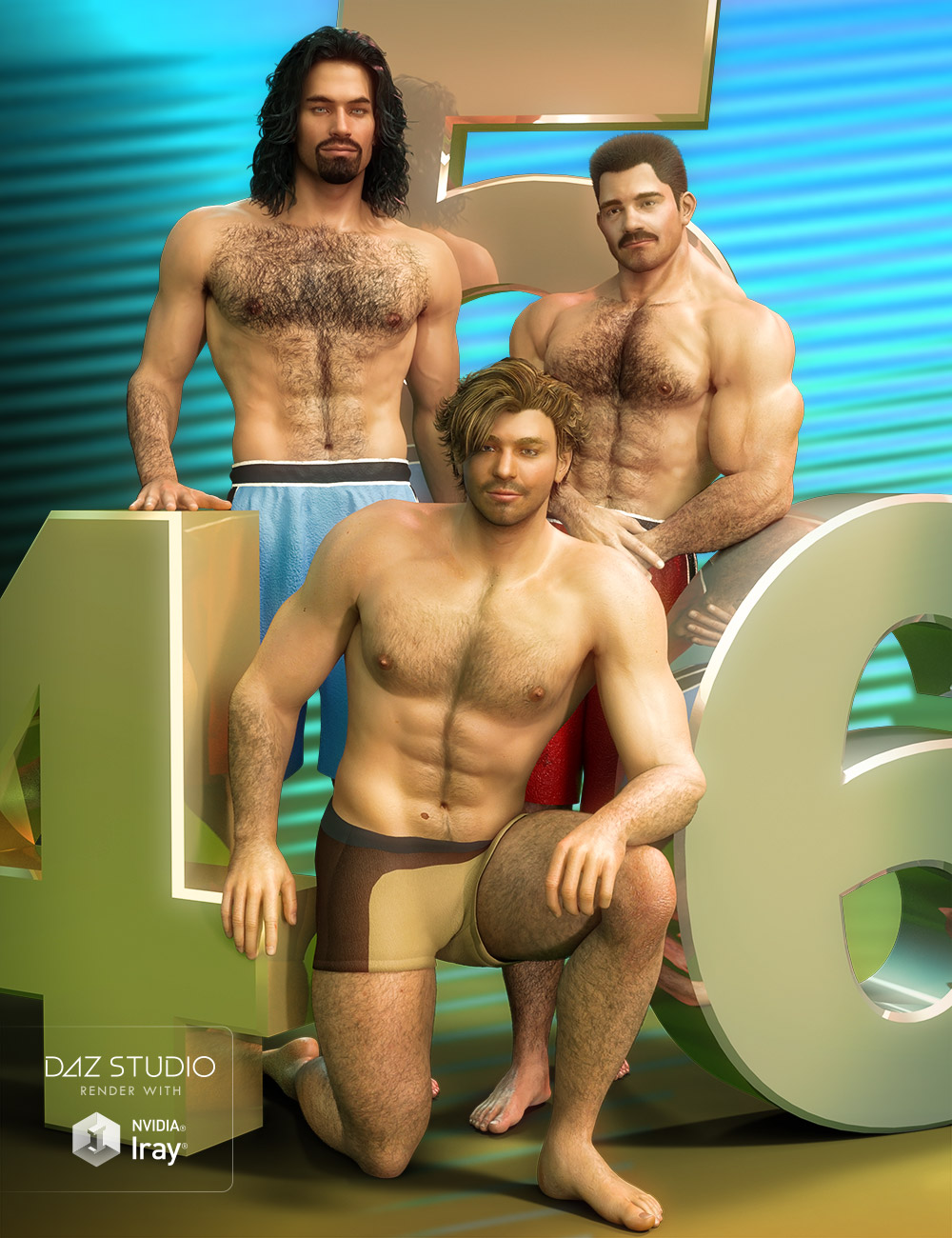 Project Hairy 456 for Daz Studio by: Jepe, 3D Models by Daz 3D