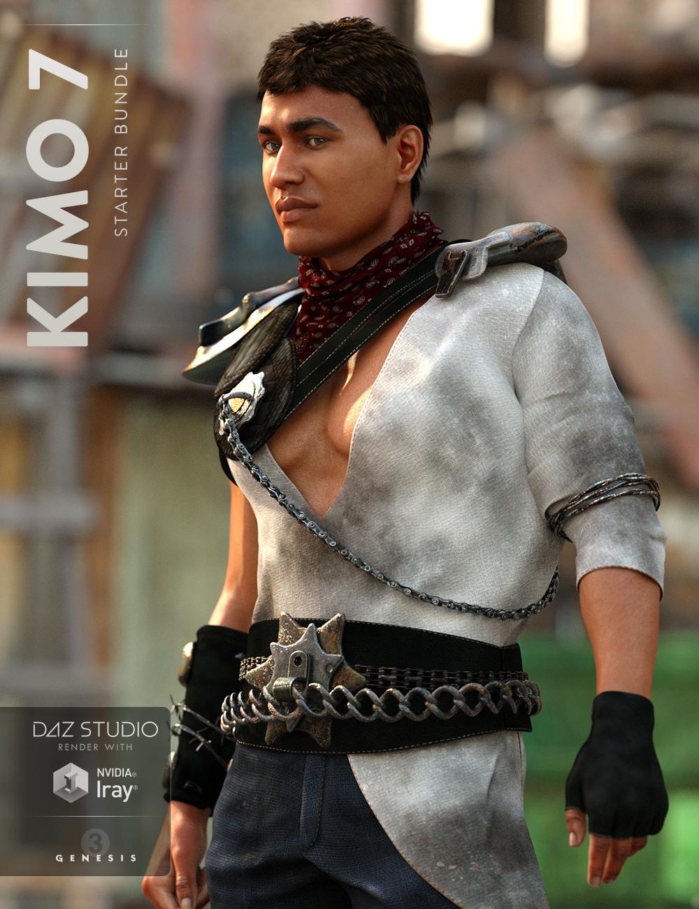Kimo 7 Starter Bundle by: , 3D Models by Daz 3D